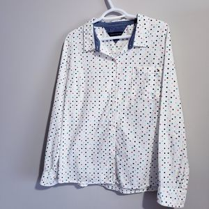 TOMMY HILFIGER | Womens Rainbow Polka Dot Shirt
